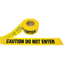 Buy Barricade Yellow Caution Do Not Enter Tape 1.5 Mil, 1000 feet on sale online