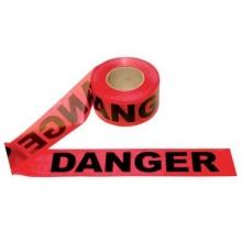 Barricade Red Danger Tape 1.5 Mil, 1000 feet