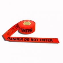 Red Danger Do Not Enter Barricade Tape 1.5 Mil, 1000 feet