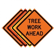 "36"" x 36"" Roll Up Traffic Sign - Tree Work Ahead"