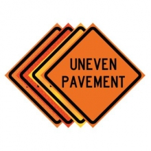 "36"" x 36"" Roll Up Traffic Sign - Uneven Pavement"