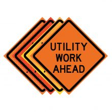 "Buy 36"" x 36"" Roll Up Traffic Sign - Utility Work Ahead on sale online"