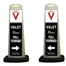Buy Valet White Vertical Panel w/Reflective Sign V11 on sale online