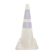 "28"" White Traffic Cone w/ 6"" and 4"" Reflective Collars"
