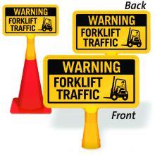ConeBoss Sign: Warning - Forklift Traffic