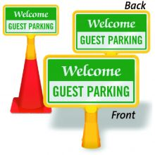 ConeBoss Sign: Welcome - Guest Parking