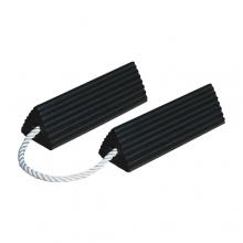 "Buy 15"" Rubber Wheel Chocks with 24"" Connecting Rope on sale online"