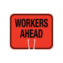 Buy Traffic Cone Sign- WORKERS AHEAD on sale online