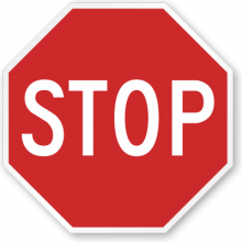 Official MUTCD Stop Traffic Sign