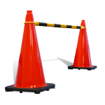 Buy Retractable Cone Bar (Black & Yellow)  on sale online