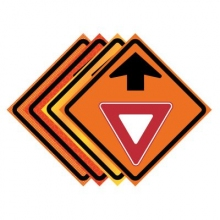 "36"" x 36"" Roll Up Traffic Sign - Yield Ahead Symbol"