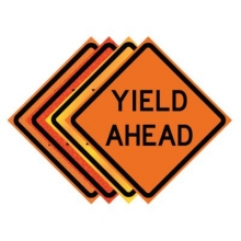 "36"" x 36"" Roll Up Traffic Sign - Yield Ahead"