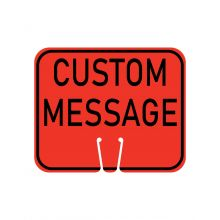 Buy Traffic Cone Sign - CUSTOM MESSAGE (Orange) on sale online
