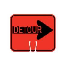 Traffic Cone Sign - DETOUR (Right)