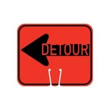 Traffic Cone Sign - DETOUR (Left)
