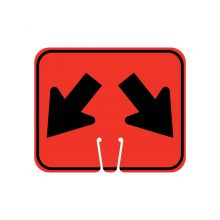 Buy Traffic Cone Sign - DOUBLE LANE ARROW on sale online