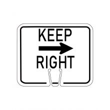 Buy Traffic Cone Sign - KEEP RIGHT on sale online