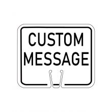 Buy Traffic Cone Sign - CUSTOM MESSAGE (White) on sale online