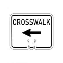 Buy Traffic Cone Sign - LEFT CROSSWALK on sale online