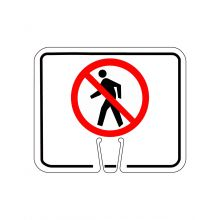 Buy Traffic Cone Sign - NO PEDESTRIAN CROSSING Symbol on sale online