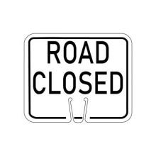 Traffic Cone Sign - ROAD CLOSED