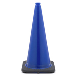 "28"" 7 LB Blue Black Based Traffic Cone"