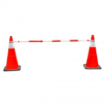 Retractable Cone Bar Safety Orange and White