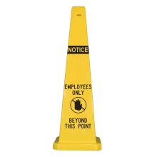 "Lamba 36"" Safety Cone - Employees Only Beyond This Point"