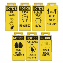 Lamba Floor Sign Stand - Safety Text Options