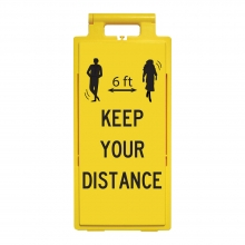 Lamba Floor Stand - 6 ft Keep Your Distance