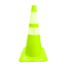 "Lime PVC 28""  7 lbs Traffic Cone w/ 6"" & 4"" collars"