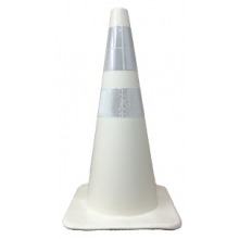 """Buy 28"""" White Traffic Cone w/ 6"""" and 4"""" Reflective Collars on sale online"""