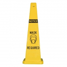 "Lamba 36"" Safety Cone - Notice Mask Required"