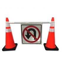 Custom Cone Bar Roll Up Sign