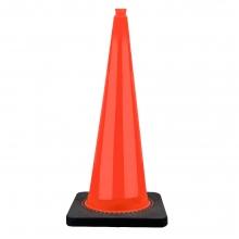 "36"" Orange Traffic Cone Black Base, 15 lbs"