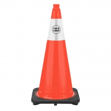 "28"" Traffic Cone with 6"" Reflective Collar - Custom Logo"