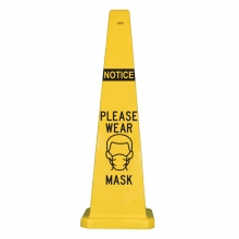 "Lamba 36"" Safety Cone - Notice Please Wear Mask"