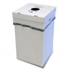 Disposable Trash Container w/Multi-Function Lid (Pack of 10)