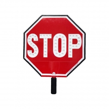 """Cortina LED 12"""" Stop Sign HIP Paddle w/Padded Handle"""
