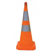 "28"" Orange Collapsible Pop Up Cone w/Light 6"" & 4"" Reflective Collar"