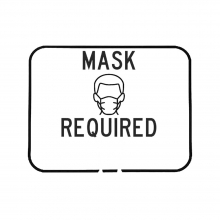 Cone Sign - Mask Required Text Options
