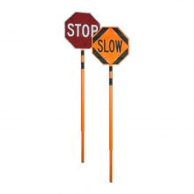 Roll Up Stop/Slow Telescoping Sign