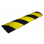 Striped Yellow Speed Bump Rubber