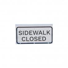 SideWalk Closed - Cone Bar Roll Up Sign