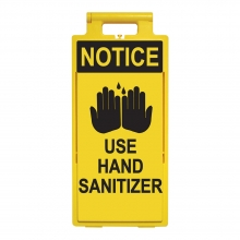Lamba Floor Stand - Notice Use Hand Sanitizer