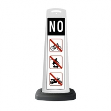 Valet White Vertical Panel NO w/Reflective Sign P37