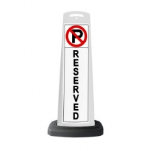 Valet White Vertical Panel No Parking Reserved w/Reflective Sign P16