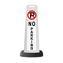 Valet White Vertical Panel No Parking w/Reflective Sign P15