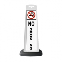Valet White Vertical Panel No Smoking w/Reflective Sign P39