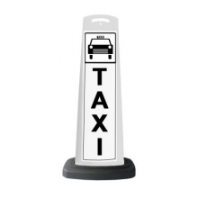 Valet White Vertical Panel Taxi w/Reflective Sign P34